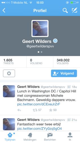 Geert Wilders twittert dicatoriaal