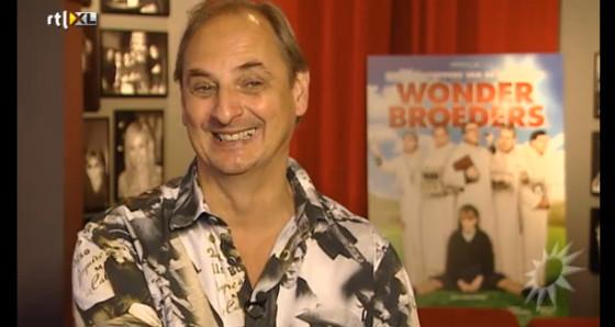 Martin op de persdag van de film Wonderbroeders